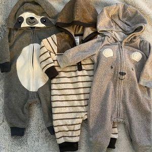 Carter's Fleece Three Month Outerwear Bundle